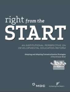 Right from the Start - Institutional Perspective on Developmental Reform cover image