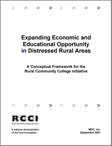 Expanding Economic and Educational Opportunity in Distressed Rural Areas cover image