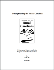 Strenghtening the Rural Carolinas cover image
